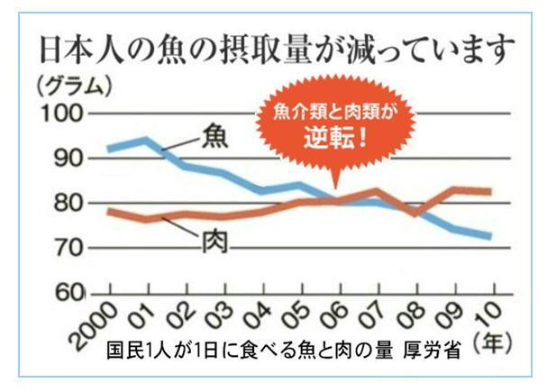 日本人の魚の摂取量が減っています!.jpg